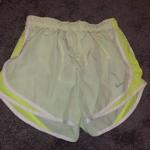 Bright yellow/green Nike shorts